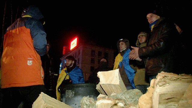 متظاهرون أوكرانيون