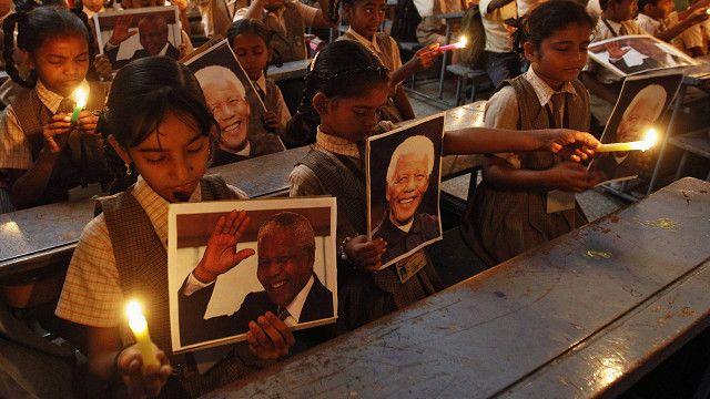 Luto por la muerte de Mandela