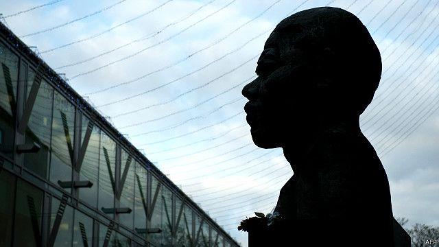 Mandela bust, London