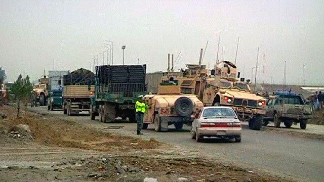 الشارع المؤدي إلى مطار كابول