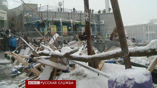 Баррикада на Майдане в Киеве