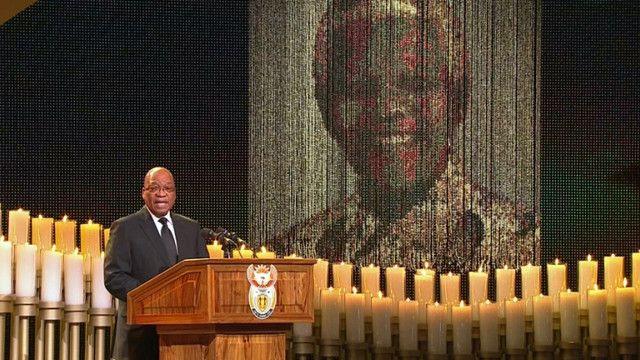 كلمة زوما في جنازة مانديلا