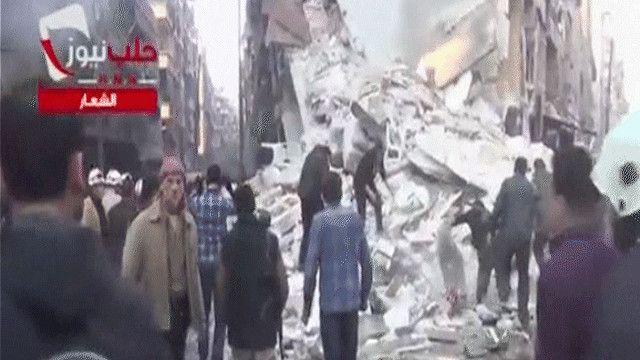 آثار القصف على مدينة حلب