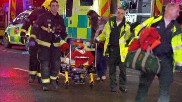 عشرات المصابين في انهيار سقف مسرح في لندن