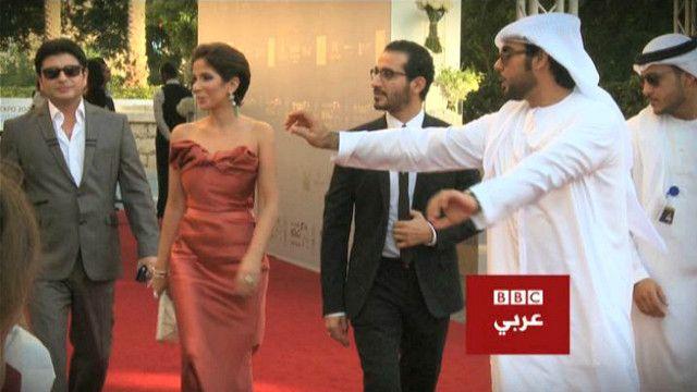 أحمد حلمي ومنى زكي في مهرجان دبي