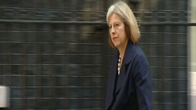 ماي تيريزا وزيرة الداخلية البريطانية