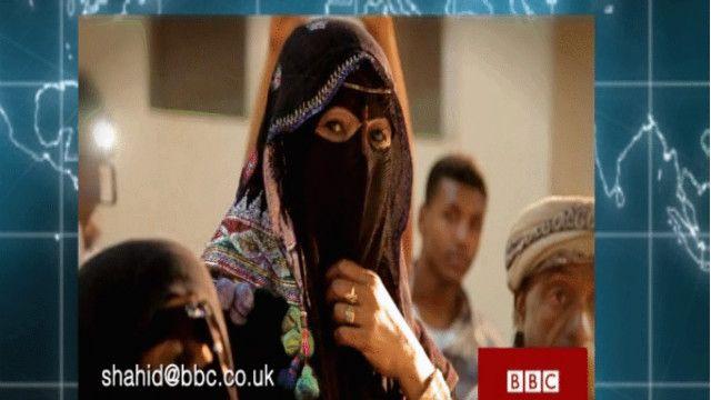 صورة لامراة يمنية من تقرير في برنامج أنا الشاهد