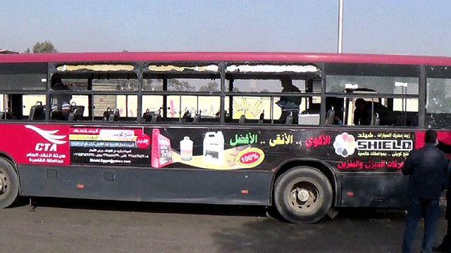الحافلة بعد الإنفجار
