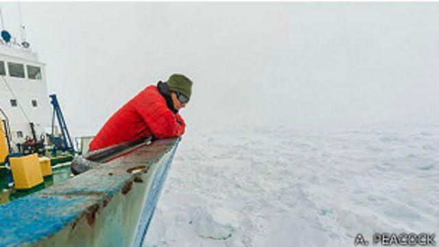 Embarcación rusa permanece atrapada en la Antártica