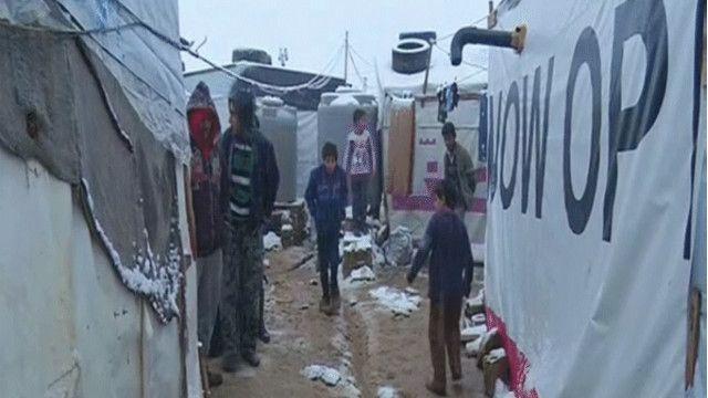 أطفال في مخيمات اللاجئين السوريين