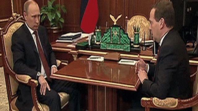 بوتين يستقبل ميدييدف