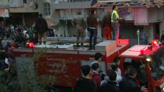 انفجار قرب مقر المجلس السياسي لحزب الله ببيروت
