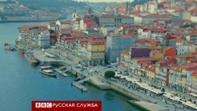 Вид на город Порто сверху