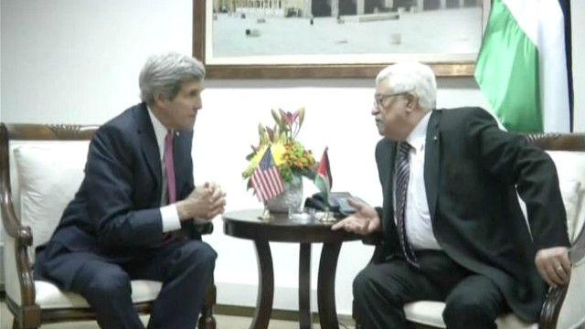 محمود عباس وجون كيري