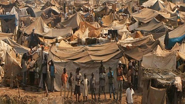 مخيم للاجئين في بانغي