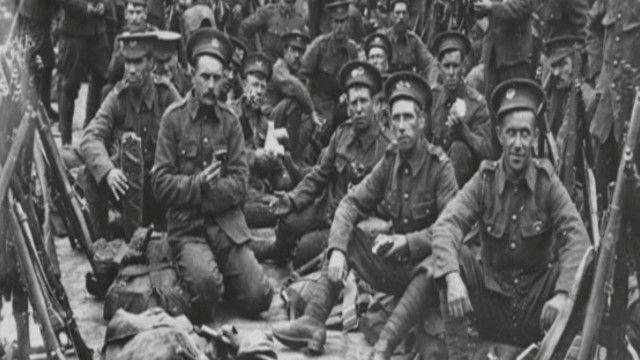 صورة من الأرشيف لجنود في الحرب العالمية الأولى