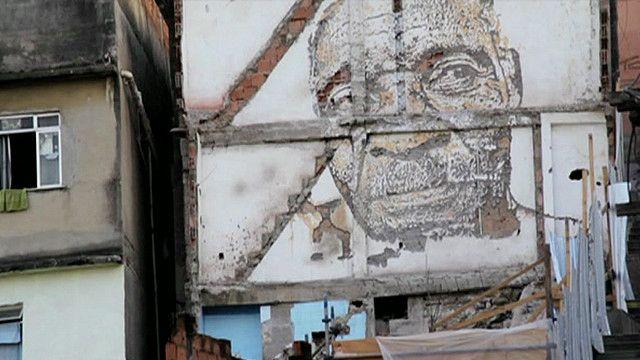 Obra do artista português Vhils (BBC)