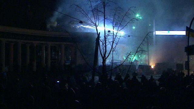 Fogos de artifícios na Ucrânia. Foto: reprodução de vídeo