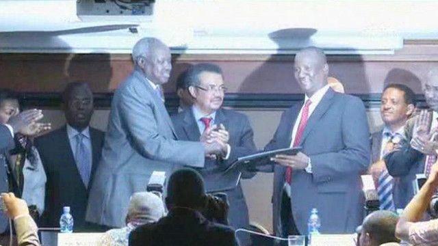 توقيع اتفاق السلام بين طرفي النزاع في جنوب السودان
