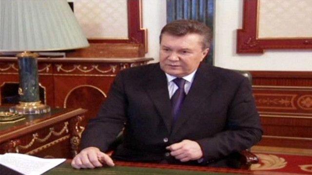 الرئيس الأوكراني فيكتور يانوكوفيتش