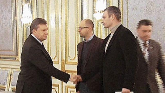 الرئيس الأوكراني وزعيم المعارضة