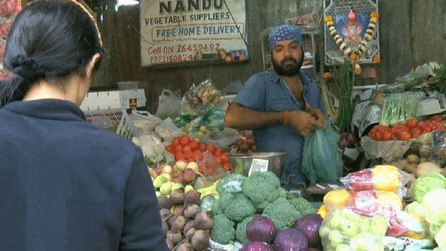 متجر لبيع الخضار في الهند