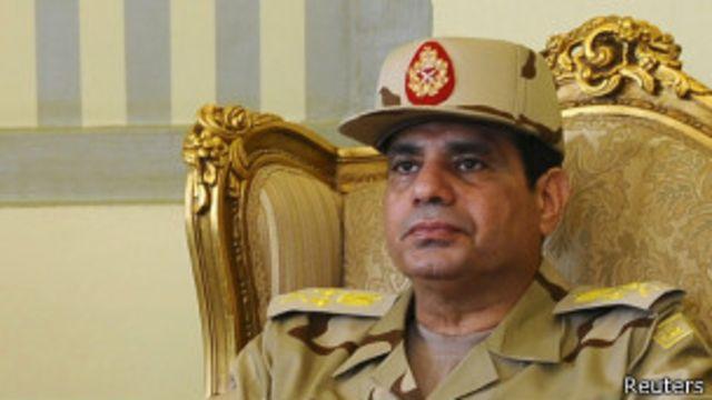 埃及軍隊「支持塞西為總統侯選人」
