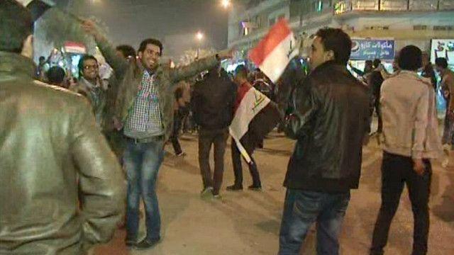 احتفالات العراقيين بفوز منتخب الشباب لكرة القدم بكأس آسيا
