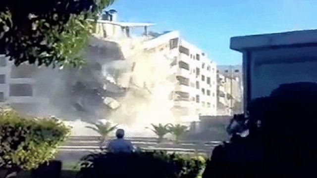 تفجير مباني سكنية