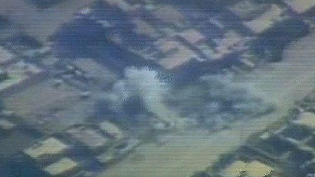 دخان يتصاعد نتيجة القصف على الفلوجة