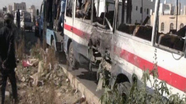 الحافلة كانت تنقل جنودا يمنيين