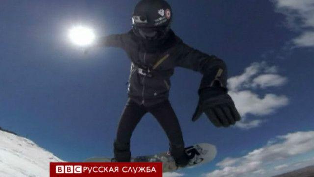 Спортсмен в Сочи