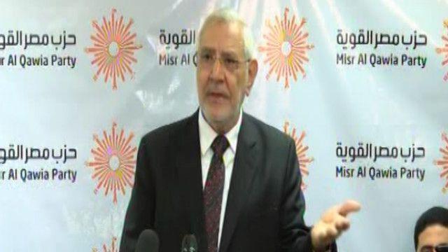 عبدالمنعم أبو الفتوح رئيس حزب مصر القوية