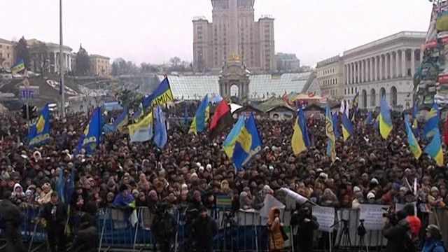 مظاهرات في اوكرانيا