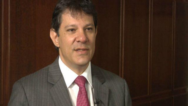 Fernando Haddad, prefeito de São Paulo. BBC