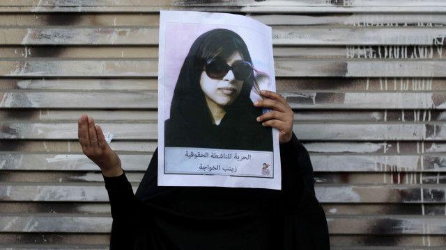 زينب الخواجة اعتقلت بسبب نشاطها المعارض