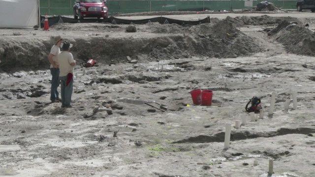 Sítio arqueológico em Miami | Crédito: BBC