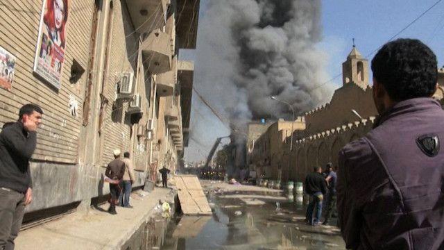 تفجيرين في سوق شعبي وسط بغداد