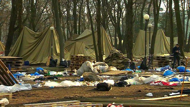 Бывший лагерь силовиков в Киеве