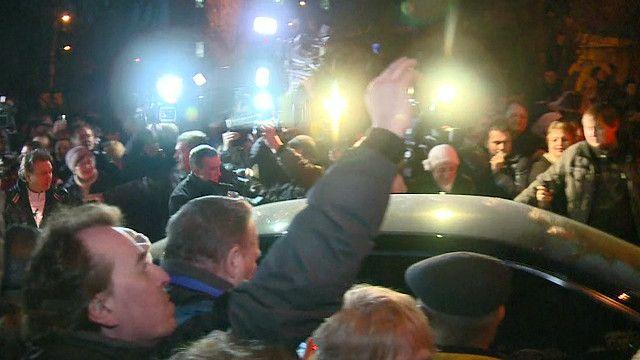 Момент освобождения Юлии Тимошенко