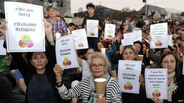 Acara menyambut pengungsi di Australia