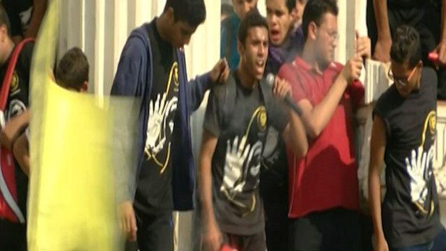 منبر للمتظاهرين في مصر