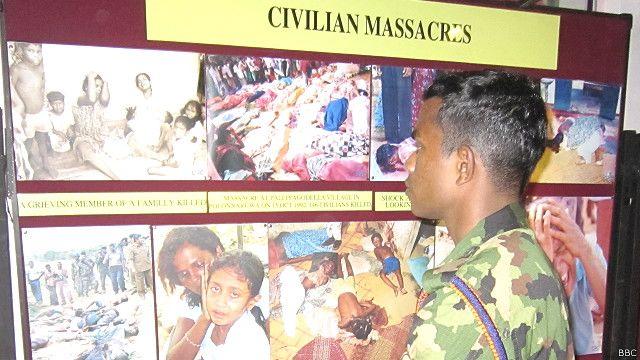 இலங்கை போர் பாதிப்புகள் குறித்த கண்காட்சி