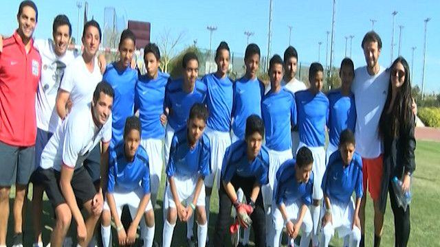 فريق كرة قدم من ألاطفال