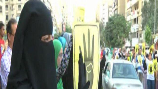 متظاهرة من الإخوان المسلمين في القاهرة