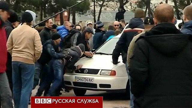 Драка на митинге в Севастополе