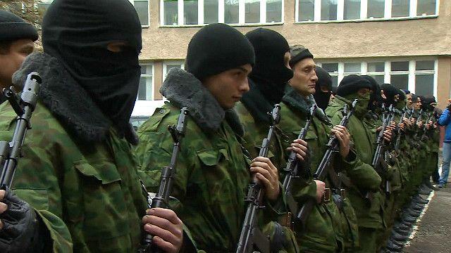 Новобранцы присягают крымскому правительству