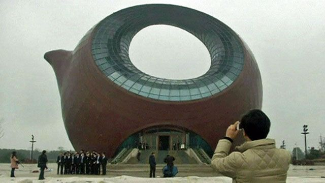 Teapot-shaped building, China