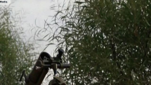 منصة صواريخ في غزة