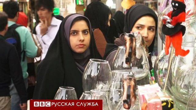 Женщины на базаре в Иране